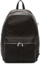 Rick Owens Black Leather Backpack