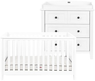 Silver Cross Nostalgia Cotbed and Dresser, White