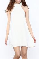 Do & Be White Sleeveless Swing Dress
