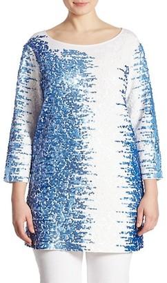 Joan Vass, Plus Size Sequin Tunic