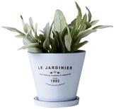 Torre & Tagus Jardinier Round Planter with Saucer