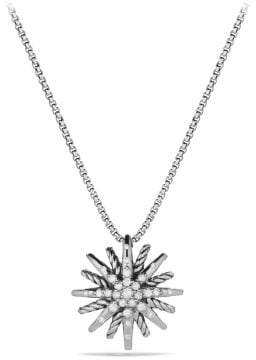 David Yurman Starburst Small Pendant Necklace With Diamonds, 16Mm