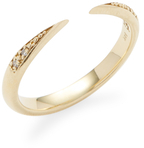 Mizuki 14K Yellow Gold & Diamond Stack Ring