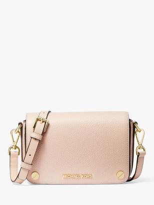 Michael Kors MICHAEL Jet Set Small Pebbled Leather Cross Body Bag, Soft Pink