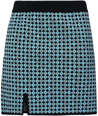 ALEXACHUNG Jacquard-knit Mini Skirt