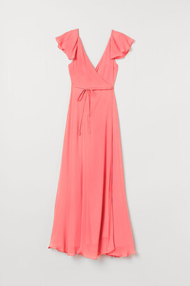 H&M Long Wrap Dress - Red