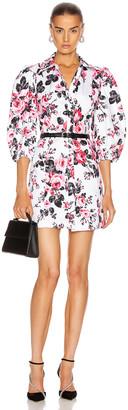 BROGNANO Floral Button Down Mini Dress in Multi | FWRD