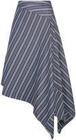 Palmer Harding Palmer/Harding Asymmetric Hem Striped Skirt
