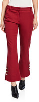 Derek Lam 10 Crosby Cropped Flare Trousers with Sailor Buttons