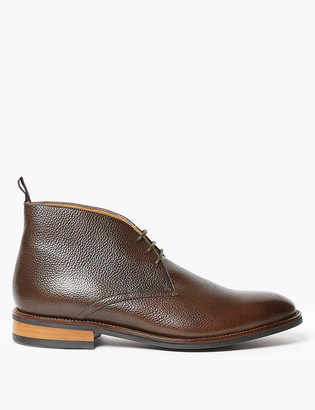 Marks and Spencer Textured Leather Chukka Boots
