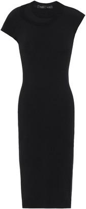 Proenza Schouler Asymmetric Open Knit-trimmed Stretch-jersey Dress