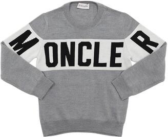 Moncler Jacquard Logo Tricot Wool Sweater
