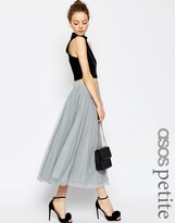 Asos WEDDING Tulle Midi Skirt with Layers