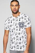 Boohoo All Over Print T-Shirt