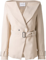 Dion Lee Horizontal Trench blazer - women - Viscose - 12