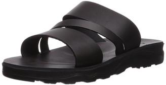Jerusalem Sandals Men's Boaz Molded Footbed Slide Sandal Brown 40 Medium EU (14 US)