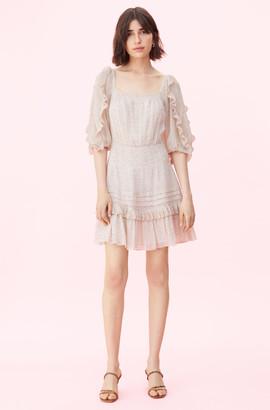 Rebecca Taylor Block Vine Print Square Neck Dress