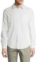 Ben Sherman Embroidered Long Sleeve Sportshirt