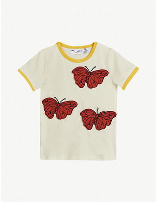 Mini Rodini Butterfly-embroidered organic cotton T-shirt 4-11 years