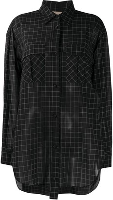 Maison Flaneur Long-Sleeved Check Print Shirt