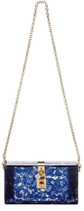 Dolce & Gabbana Plexiglass Lace Evening Clutch