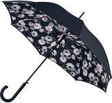 Fulton Bloomsbury Mono Bouquet Walking Umbrella, Black/Multi