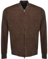 BOSS ORANGE HUGO Leather Jacket Beige