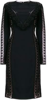 Stella McCartney lace panel fitted dress