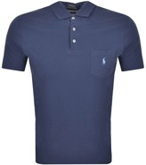 Ralph Lauren Pocket Polo T Shirt Blue