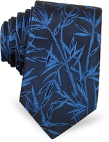 Lanvin Leaves Pure Jacquard Silk Narrow Tie