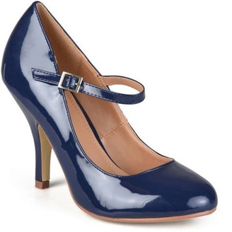 Brinley Co. Women's Patent Round Toe Mary Jane Pumps