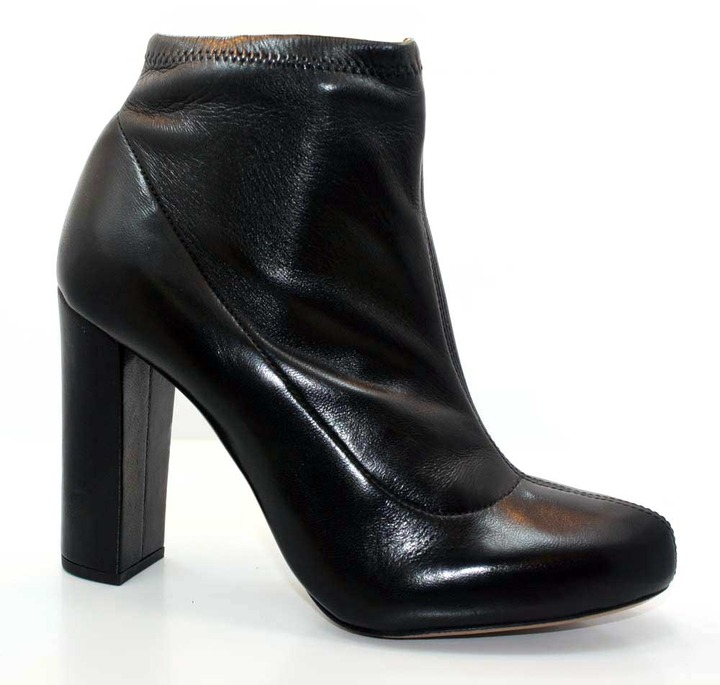 """Chloé CH21346"""" Black Leather Stretch Ankle Boot"""