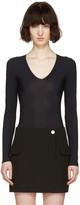 Maison Margiela Black V-neck Bodysuit