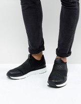 Armani Jeans Elastic Runner Trainers In Black