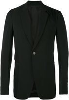 Rick Owens draped blazer - men - Silk/Cotton/Virgin Wool - 48