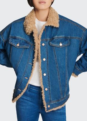 J Brand Drew Sherpa Denim Jacket