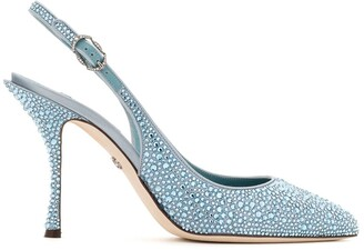 Dolce & Gabbana Pointed Crystal-Embellished Pumps