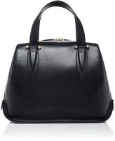 DELPOZO Leather Top Handle Bag