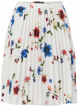 Ellen Tracy Women's Petite Size Sunburst Pleat Skirt