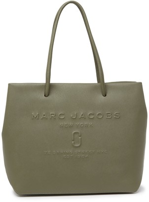Marc Jacobs Logo Embossed Saffiano Leather Tote Bag
