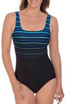 Reebok Winning Streak One-Piece Squareneck Swimsuit