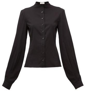 Lemaire Balloon-sleeve Silk-blend Shirt - Black