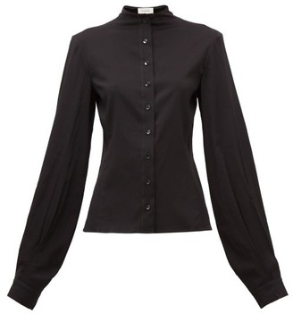 Lemaire Balloon-sleeve Silk-blend Shirt - Womens - Black