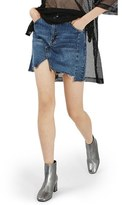 Topshop Women's Moto Patchwork Denim Skirt