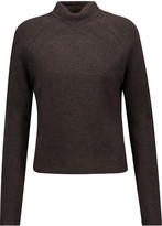 Jason Wu Cropped ribbed wool-blend turtleneck sweater