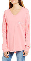 Lauren James V-Neck Logo Jersey Long-Sleeve Tee