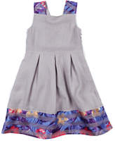 Appaman Girls' Fauna Grey Shimmer Dress