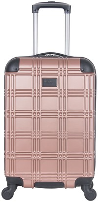 "Ben Sherman 20"" Nottingham Embossed ABS 4 Wheel Carry-On Luggage"
