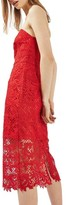 Topshop Women's Strapless Lace Midi Dress