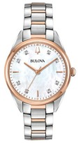 Bulova Women's Two-Tone Diamond Accent BraceletWatch